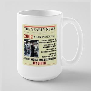 born in 2002 birthday gift Large Mug