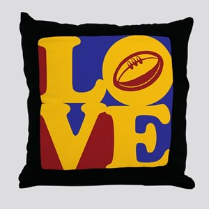 Rugby Love Throw Pillow