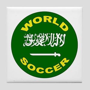 Saudi Arabia World Cup Soccer Tile Coaster