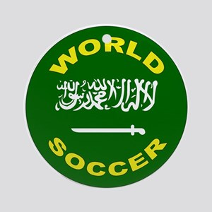 Saudi Arabia World Cup Soccer Ornament (Round)