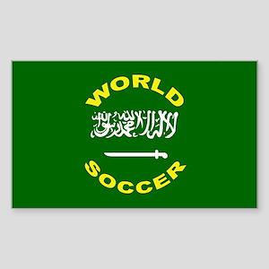 Saudi Arabia World Cup Soccer Sticker (Rectangular