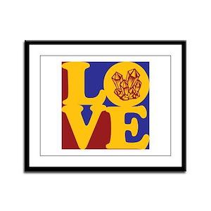 Rockhounding Love Framed Panel Print