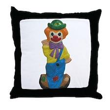 Splits the Clown Throw Pillow