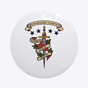 Love Respiratory Therapy Ornament (Round)