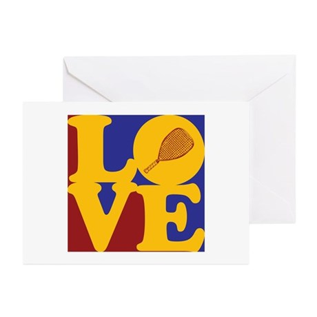 Racquetball Love Greeting Cards (Pk of 20)