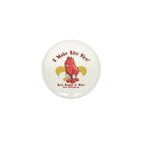Red Beans & Rice Mini Button