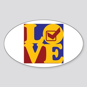 Quality Assurance Engineering Love Oval Sticker