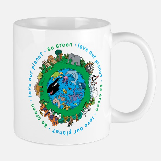 Be Green Love our planet Mug