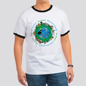 Be Green Love our planet Ringer T