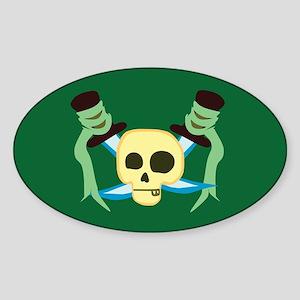 Pirate Oval Sticker