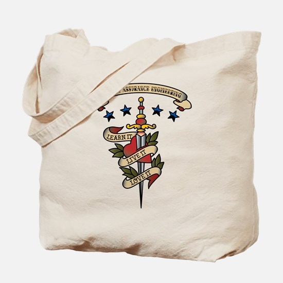 Love Quality Assurance Engineering Tote Bag