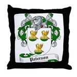 Paterson Family Crest Throw Pillow