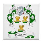 Paterson Family Crest Tile Coaster