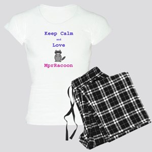 Keep Calm Love MprRacoon Women's Light Pajamas