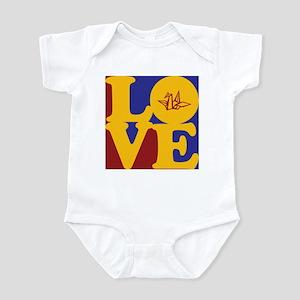 Origami Love Infant Bodysuit