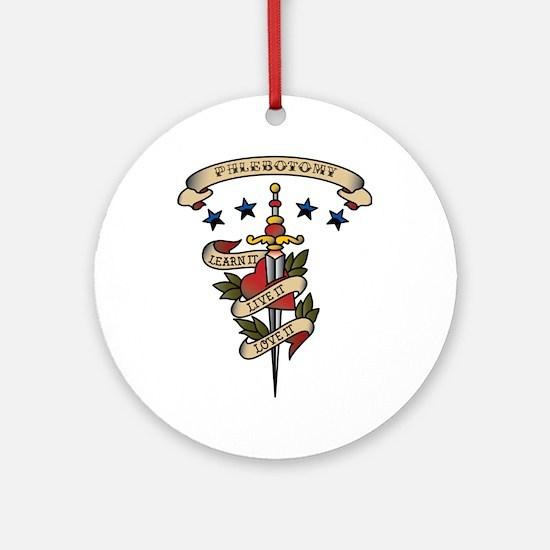 Love Phlebotomy Ornament (Round)