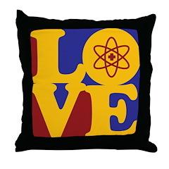 Nuclear Medicine Love Throw Pillow