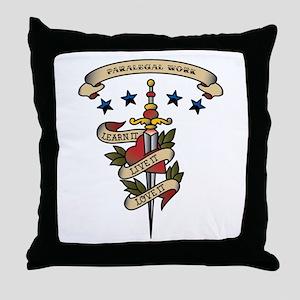 Love Paralegal Work Throw Pillow