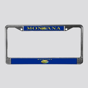 Montana State Flag License Plate Frame