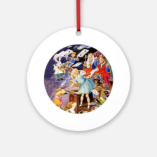 ALICE IN THE JURY BOX Ornament (Round)
