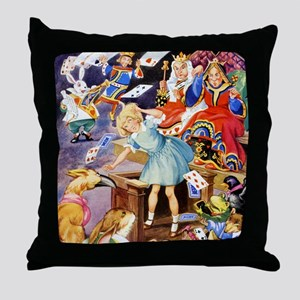 ALICE IN THE JURY BOX Throw Pillow