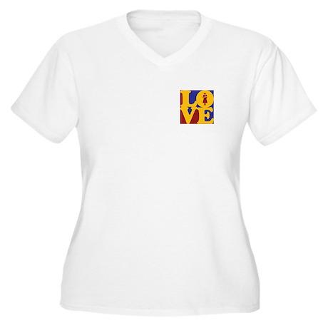Midwifery Love Women's Plus Size V-Neck T-Shirt