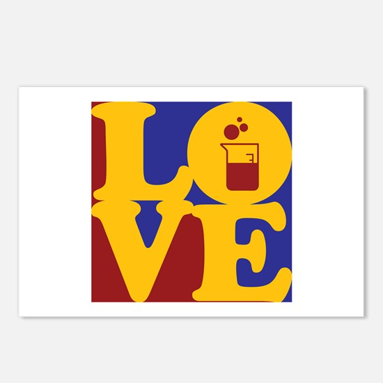 Microbiology Love Postcards (Package of 8)