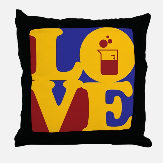 Microbiology Love Throw Pillow