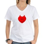 Evil Heart Women's V-Neck T-Shirt