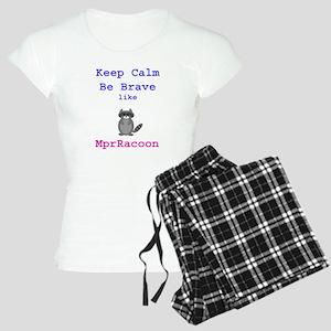 Keep Calm Be Brave MprRacoo Women's Light Pajamas