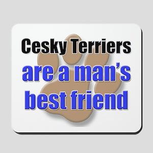 Cesky Terriers man's best friend Mousepad