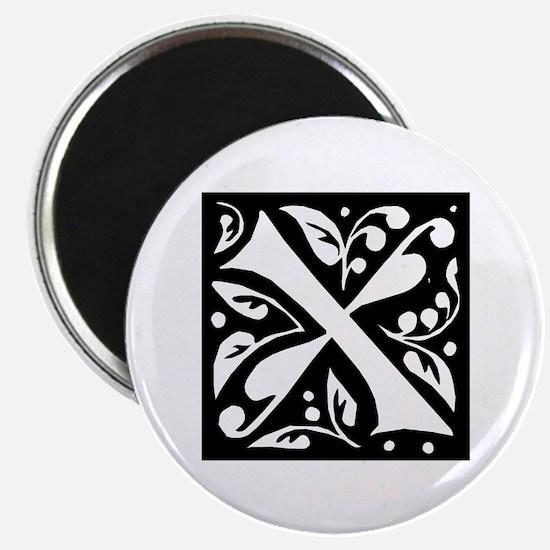 Art Nouveau Initial X Magnet