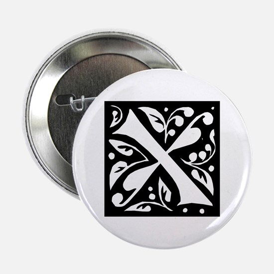 Art Nouveau Initial X Button