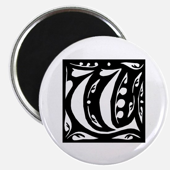 Art Nouveau Initial V Magnet