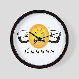 Lalalalalala Wall Clock