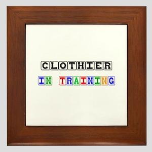 Clothier In Training Framed Tile