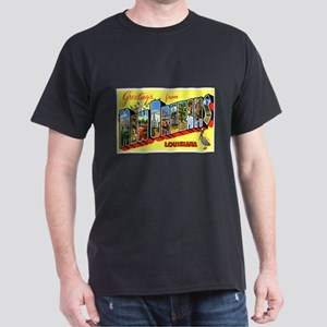 New Orleans Louisiana Greetings (Front) Dark T-Shi