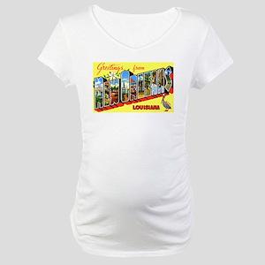 New Orleans Louisiana Greetings Maternity T-Shirt