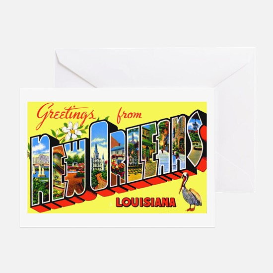 New Orleans Louisiana Greetings Greeting Card