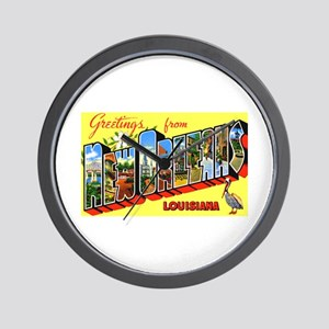 New orleans wall clocks cafepress new orleans louisiana greetings wall clock m4hsunfo