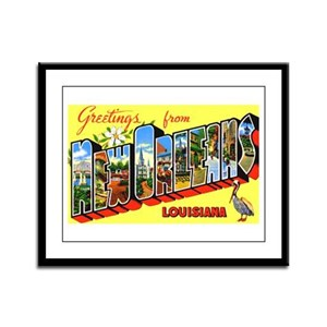 New orleans posters cafepress new orleans louisiana greetings framed panel print m4hsunfo