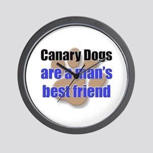 Canary Dogs man's best friend Wall Clock