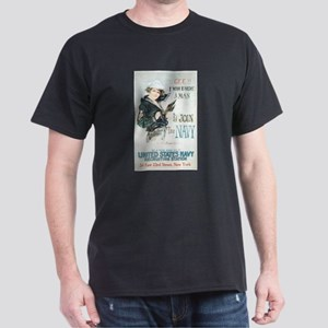 Vintage Navy Girl Dark T-Shirt