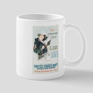 Vintage Navy Girl Mug