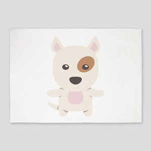 Bull Terrier Gift Idea 5'x7'Area Rug