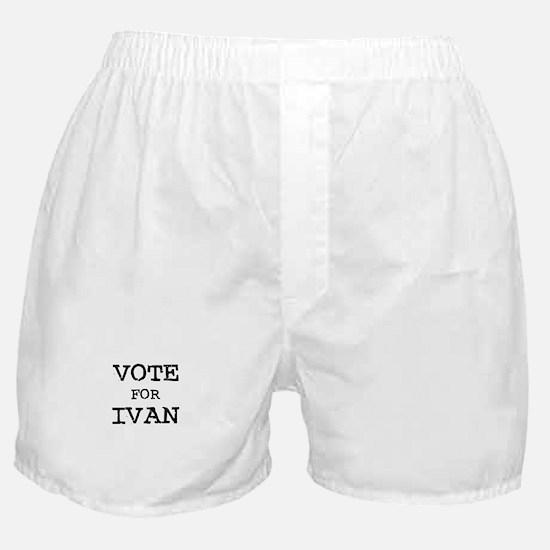 Vote for Ivan Boxer Shorts