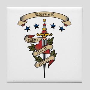 Love Knives Tile Coaster