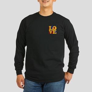 Hockey Love Long Sleeve Dark T-Shirt