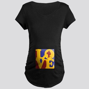 Hockey Love Maternity Dark T-Shirt
