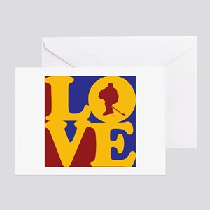 Hockey Love Greeting Card